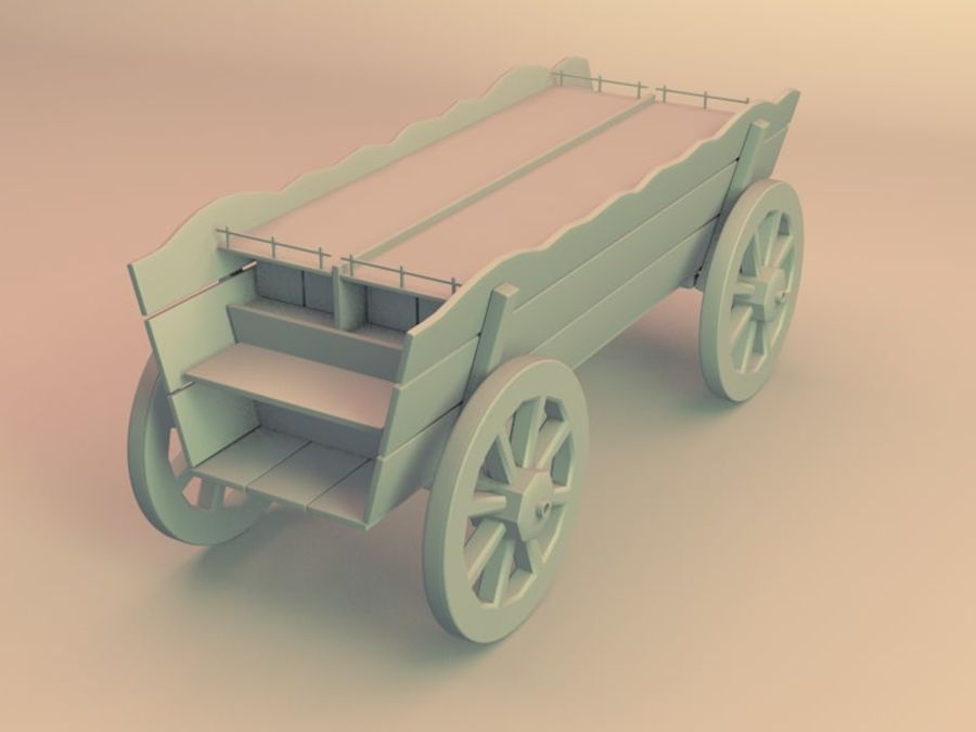 вагон royalty-free 3d model - Preview no. 3