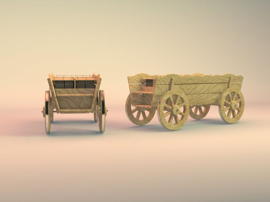 вагон royalty-free 3d model - Preview no. 5
