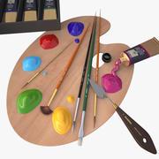 materiais de arte 3d model