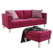 Ikea Karlstad (soffa & fotpall) 3d model