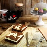 Cheesecake Brownie 3d model