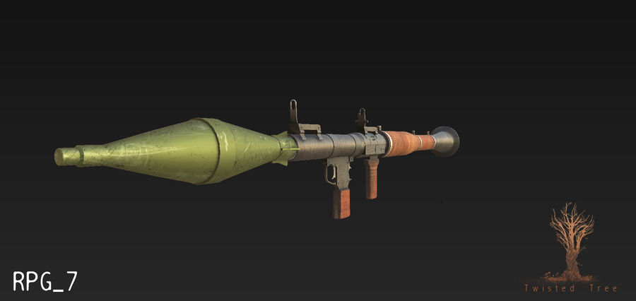 RPG 7游戏就绪 royalty-free 3d model - Preview no. 2