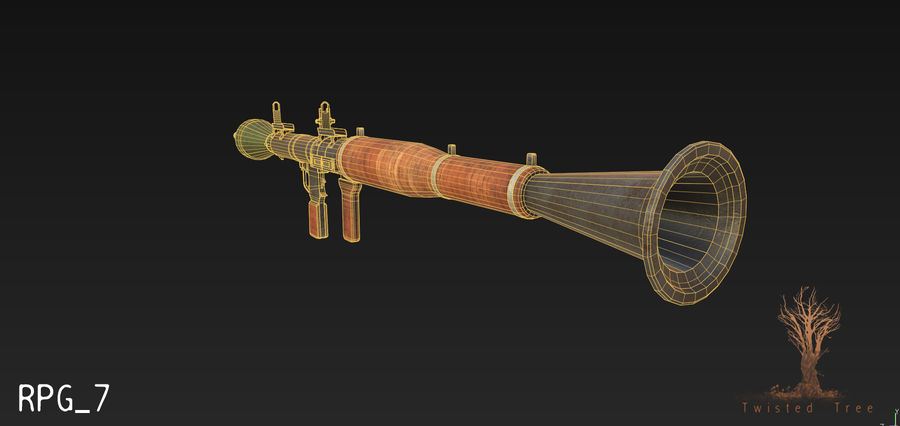 RPG 7游戏就绪 royalty-free 3d model - Preview no. 6