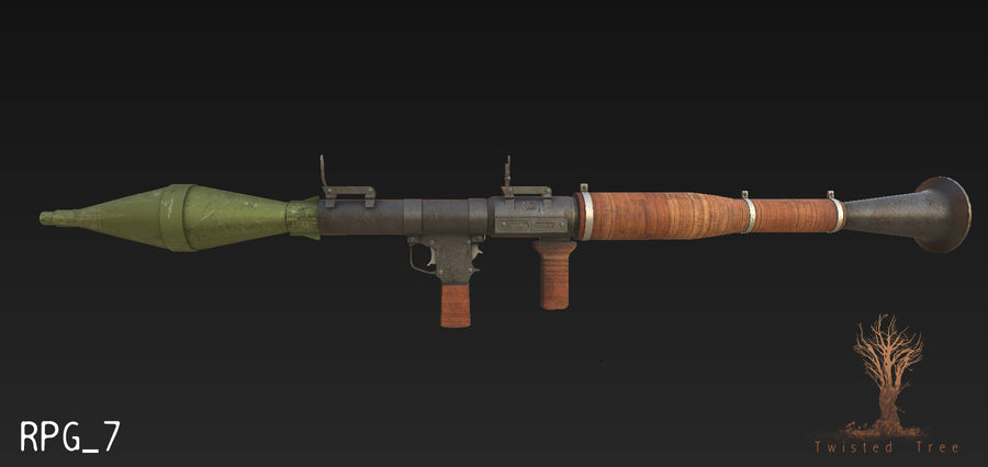 RPG 7游戏就绪 royalty-free 3d model - Preview no. 1