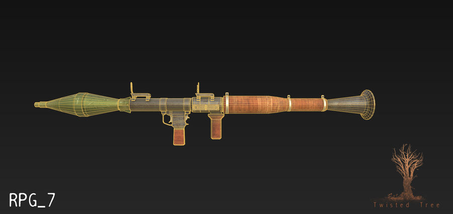 RPG 7游戏就绪 royalty-free 3d model - Preview no. 4