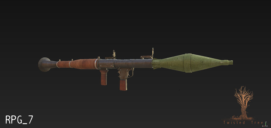 RPG 7游戏就绪 royalty-free 3d model - Preview no. 3