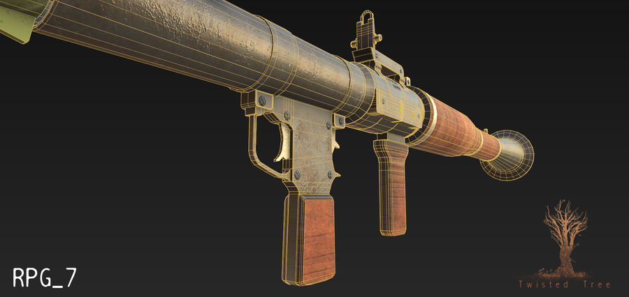 RPG 7游戏就绪 royalty-free 3d model - Preview no. 5