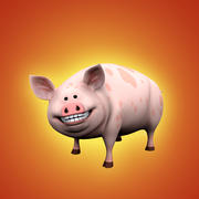 Cochon dessin animé 3d model