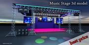 3d Stage Music Concert 3d model