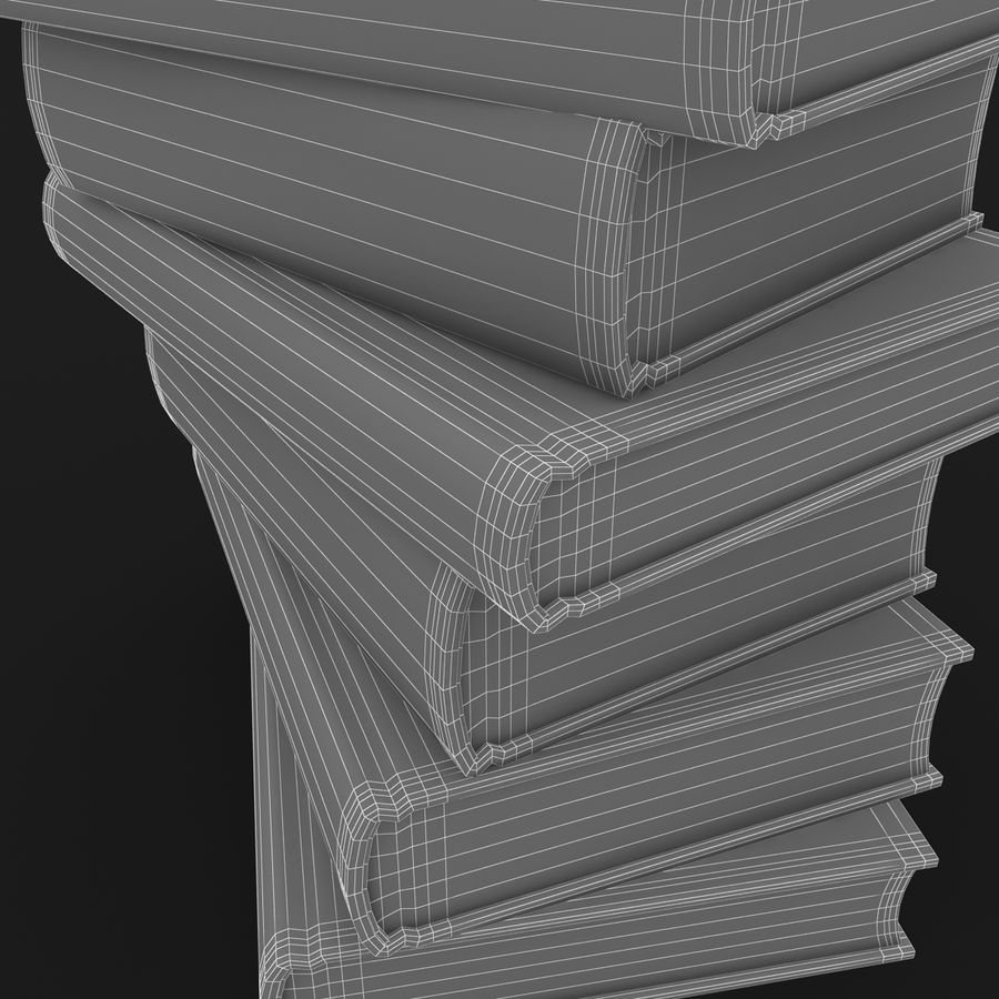 Colorful Books (Old) royalty-free 3d model - Preview no. 12