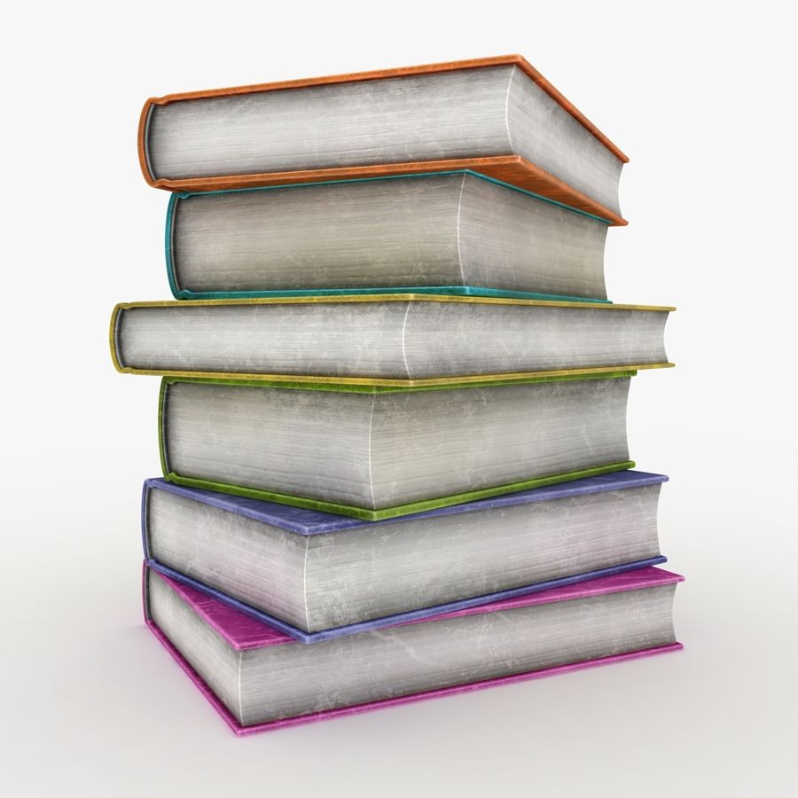 Colorful Books (Old) royalty-free 3d model - Preview no. 7