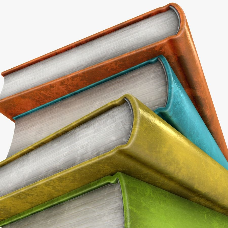 Colorful Books (Old) royalty-free 3d model - Preview no. 9