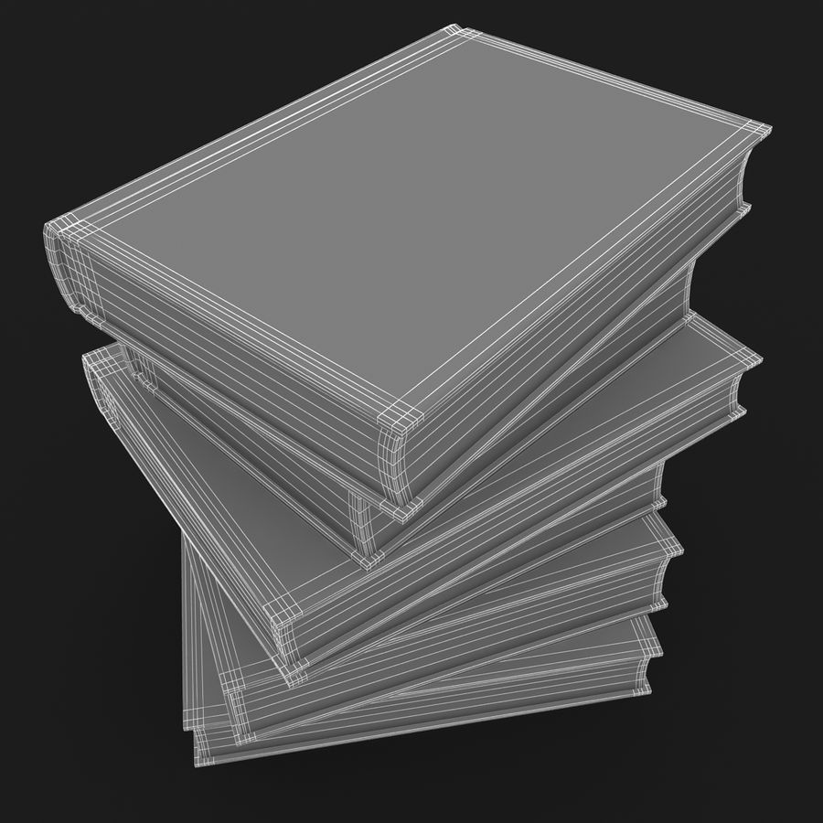 Colorful Books (Old) royalty-free 3d model - Preview no. 13