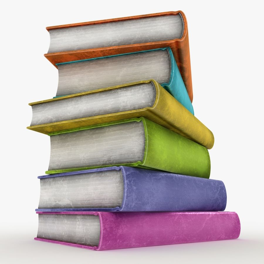 Colorful Books (Old) royalty-free 3d model - Preview no. 2