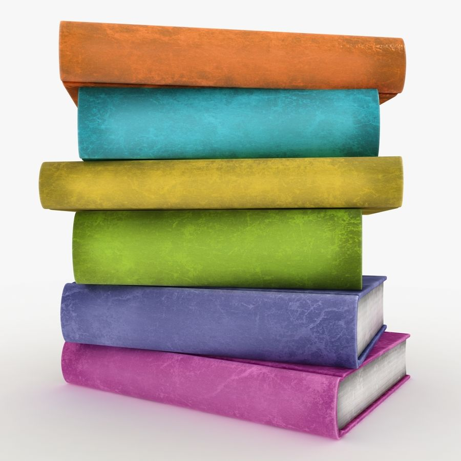 Colorful Books (Old) royalty-free 3d model - Preview no. 8