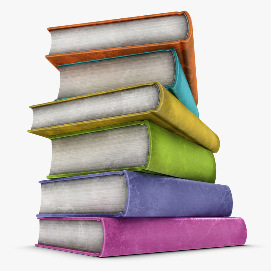 Colorful Books (Old) royalty-free 3d model - Preview no. 1