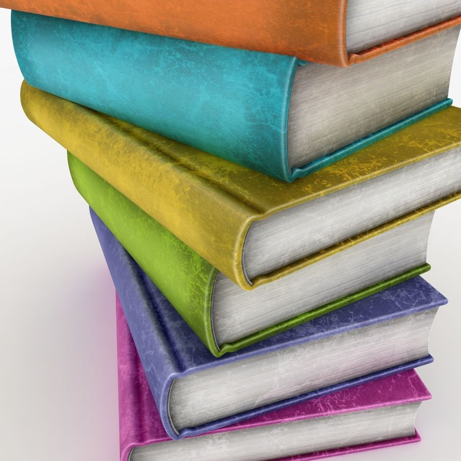 Colorful Books (Old) royalty-free 3d model - Preview no. 6