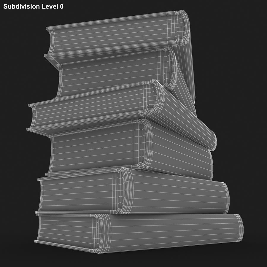 Colorful Books (Old) royalty-free 3d model - Preview no. 15
