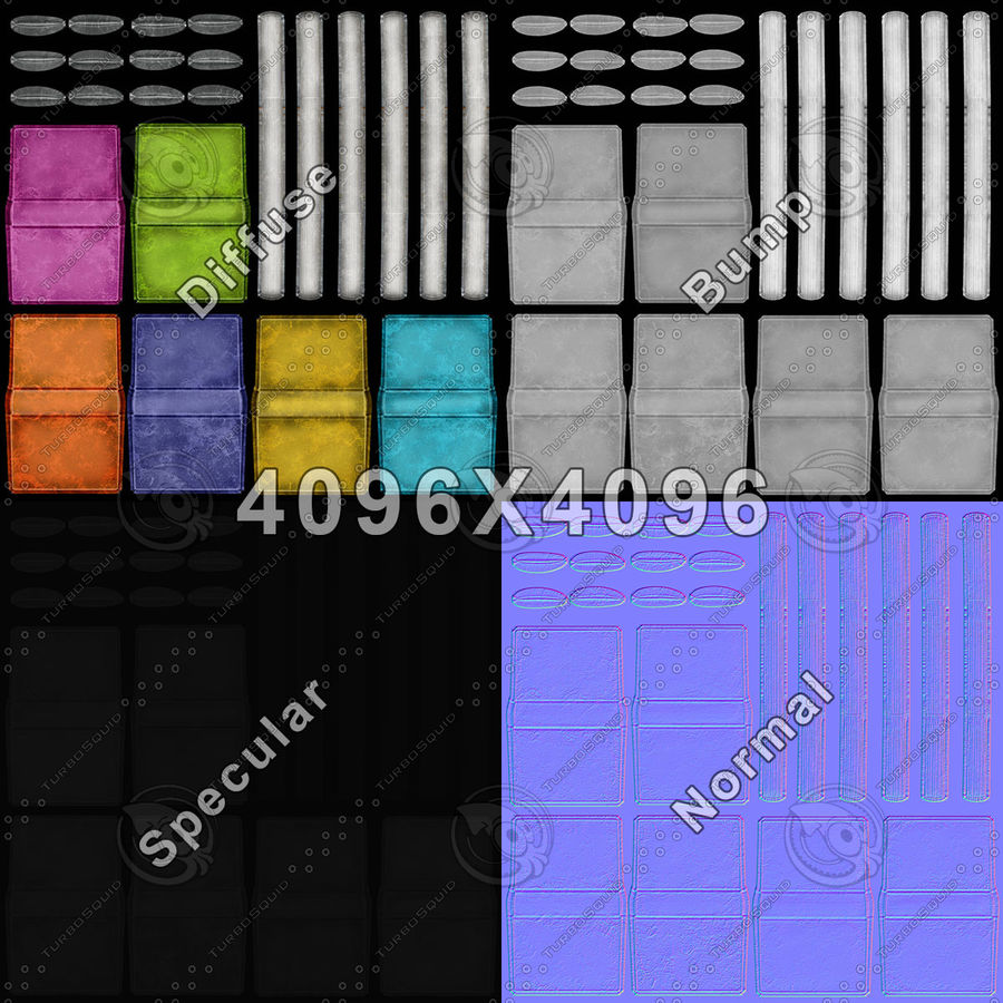 Colorful Books (Old) royalty-free 3d model - Preview no. 20