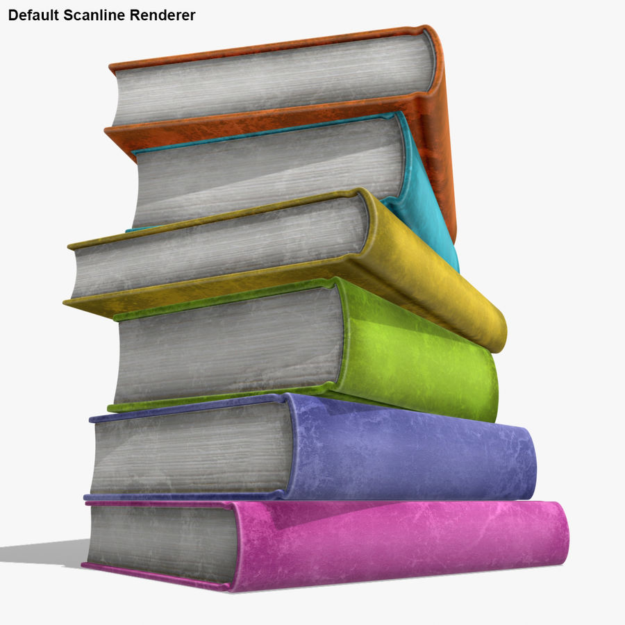 Colorful Books (Old) royalty-free 3d model - Preview no. 18