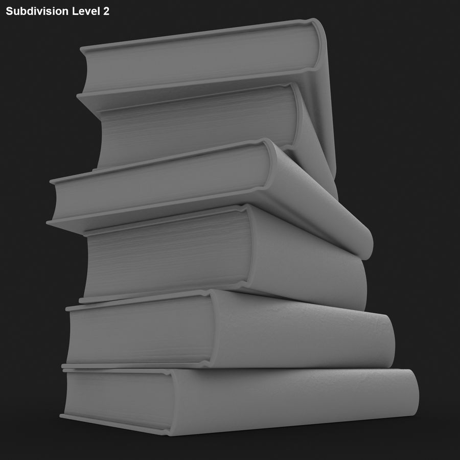 Colorful Books (Old) royalty-free 3d model - Preview no. 17