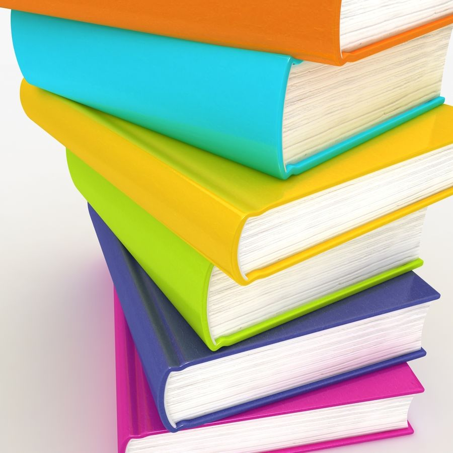Colorful Books royalty-free 3d model - Preview no. 6