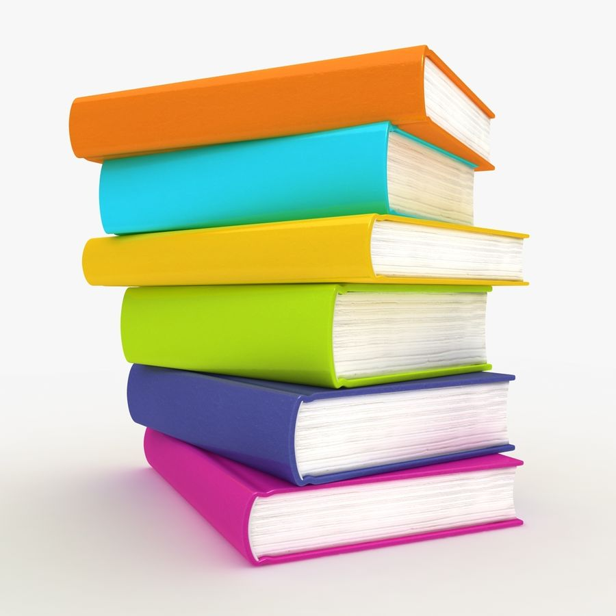 Colorful Books royalty-free 3d model - Preview no. 4