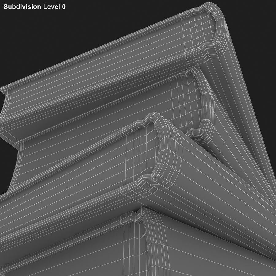 화려한 책 royalty-free 3d model - Preview no. 10