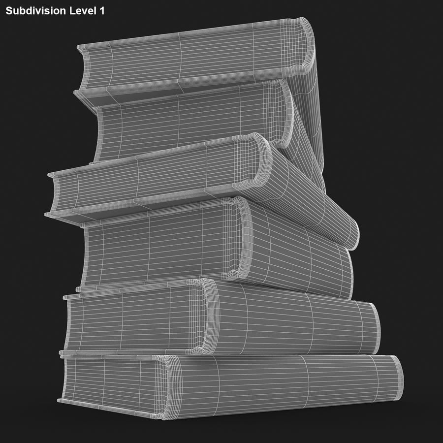 Colorful Books royalty-free 3d model - Preview no. 16