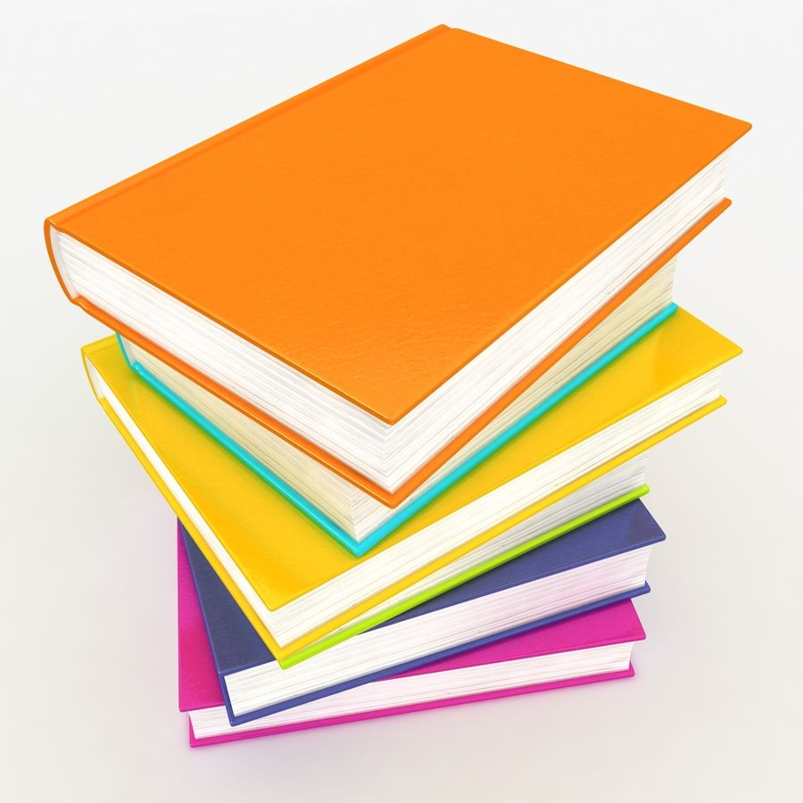 Colorful Books royalty-free 3d model - Preview no. 5