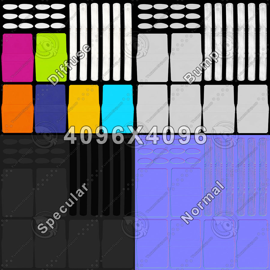 Kleurrijke boeken royalty-free 3d model - Preview no. 20