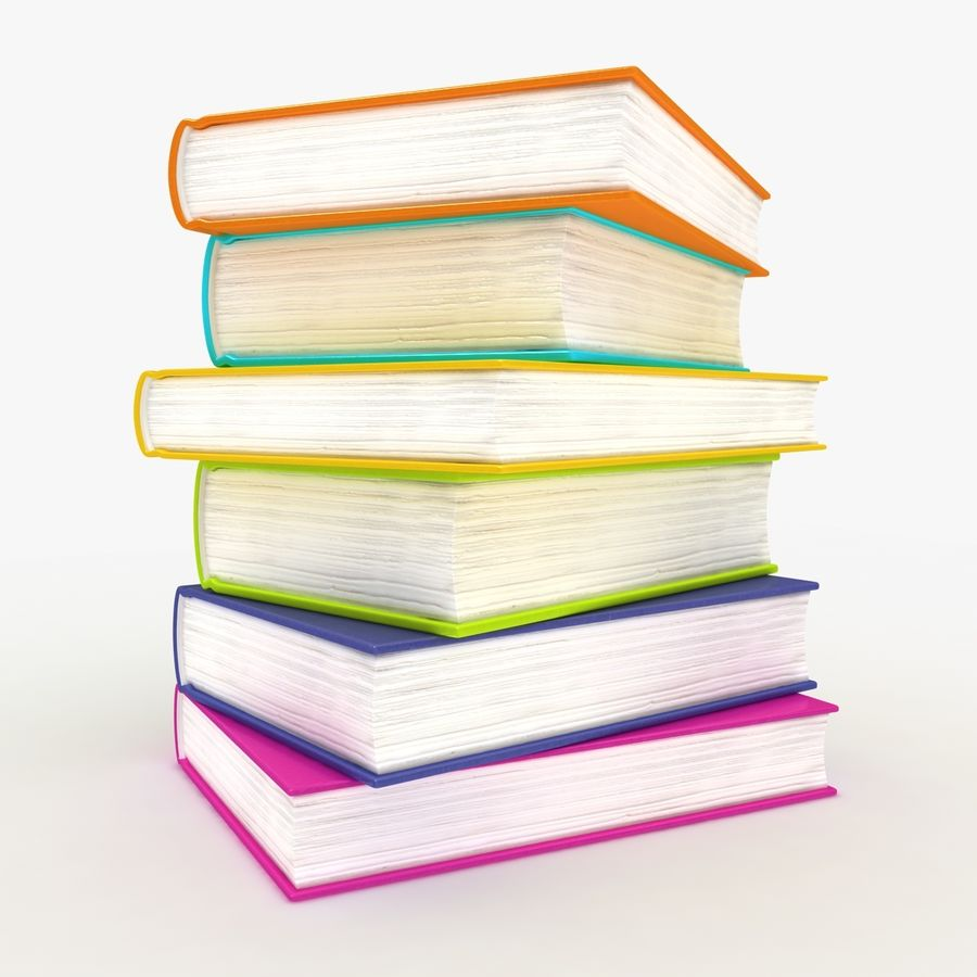Colorful Books royalty-free 3d model - Preview no. 7