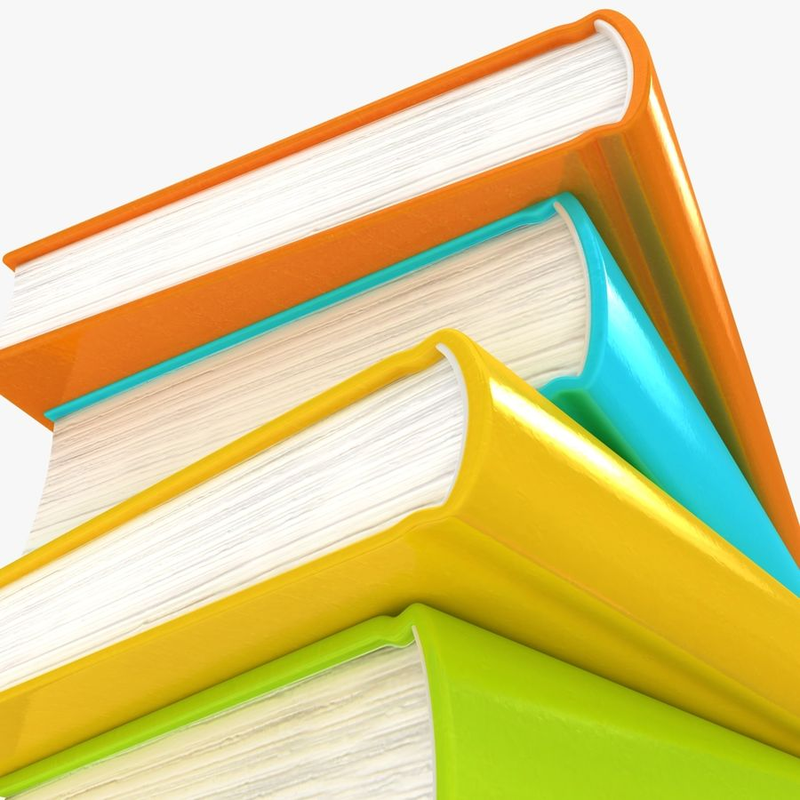 Colorful Books royalty-free 3d model - Preview no. 9
