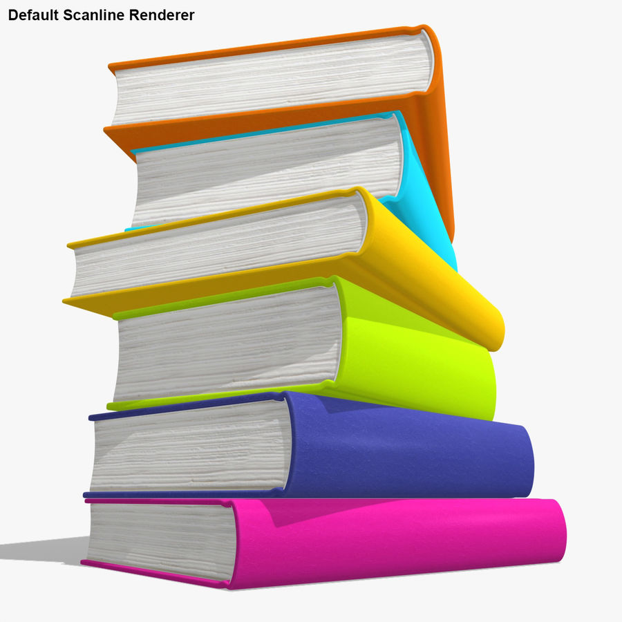 Colorful Books royalty-free 3d model - Preview no. 18