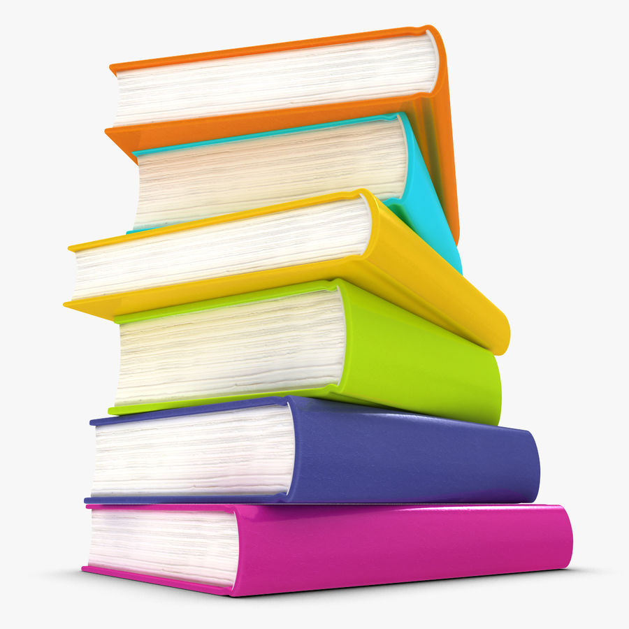 Colorful Books royalty-free 3d model - Preview no. 1