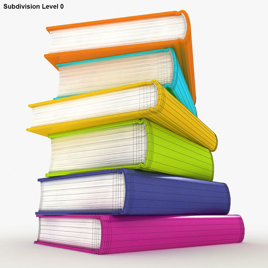 Colorful Books royalty-free 3d model - Preview no. 14