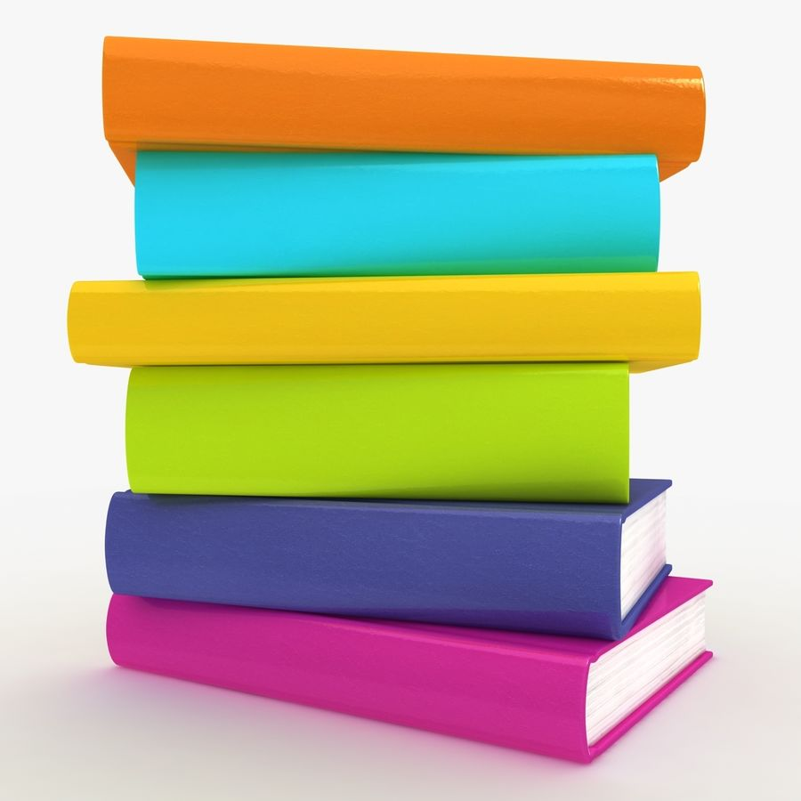 Colorful Books royalty-free 3d model - Preview no. 8