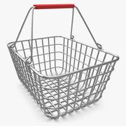 Shopping Basket (Chrome) V2 3d model