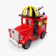 Kiddie Ride Fire Truck 3d model