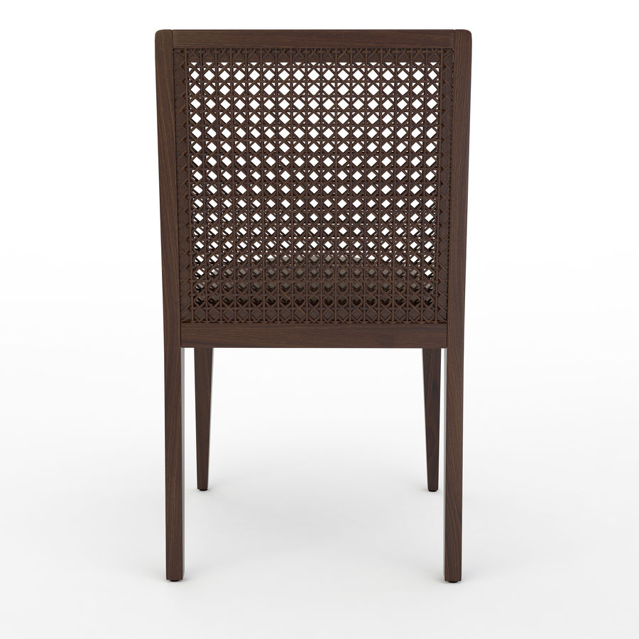 Messina Rattan Chair royalty-free 3d model - Preview no. 4