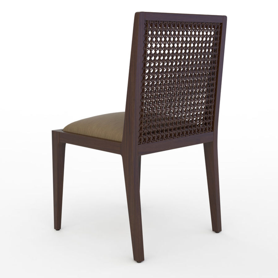 Messina Rattan Chair royalty-free 3d model - Preview no. 3