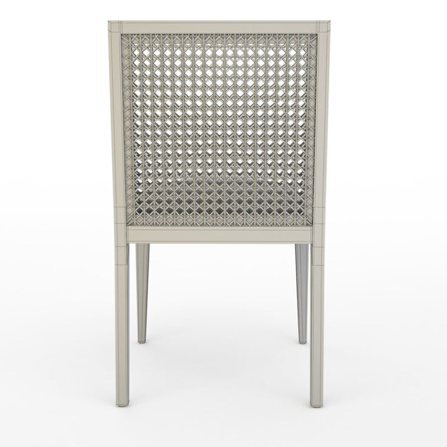 Messina Rattan Chair royalty-free 3d model - Preview no. 9