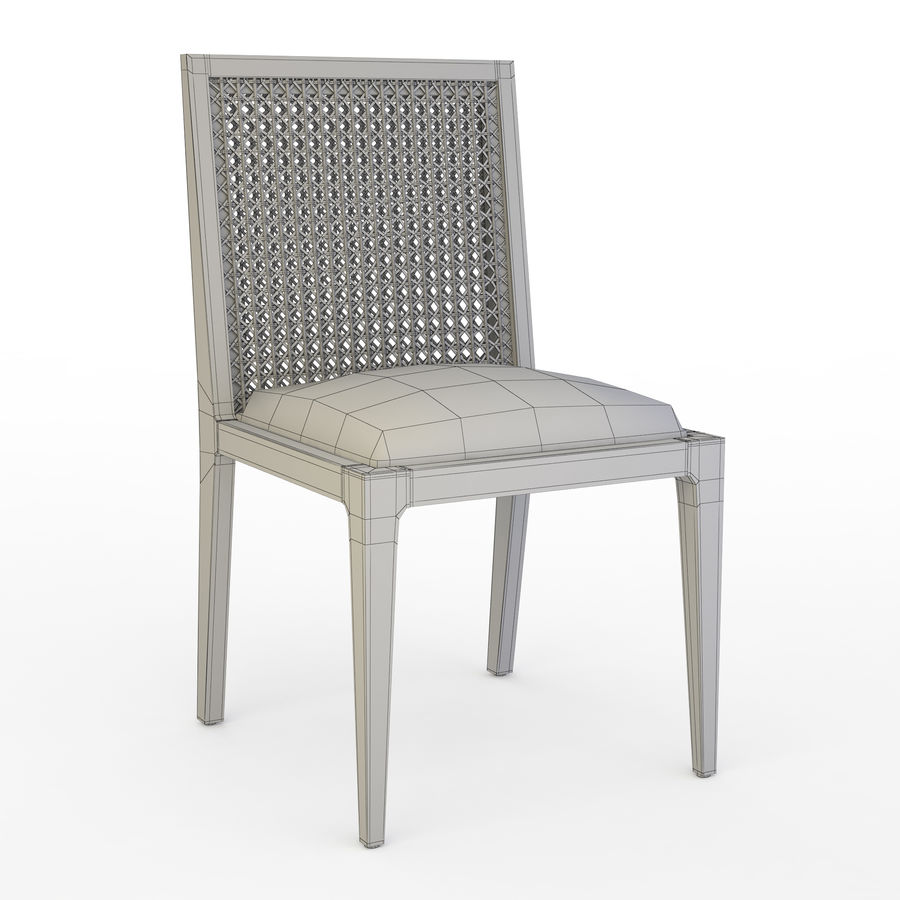 Messina Rattan Chair royalty-free 3d model - Preview no. 6