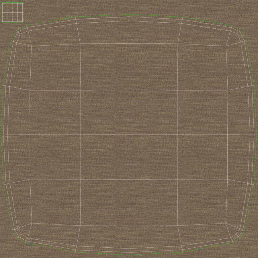 Messina Rattan Chair royalty-free 3d model - Preview no. 12