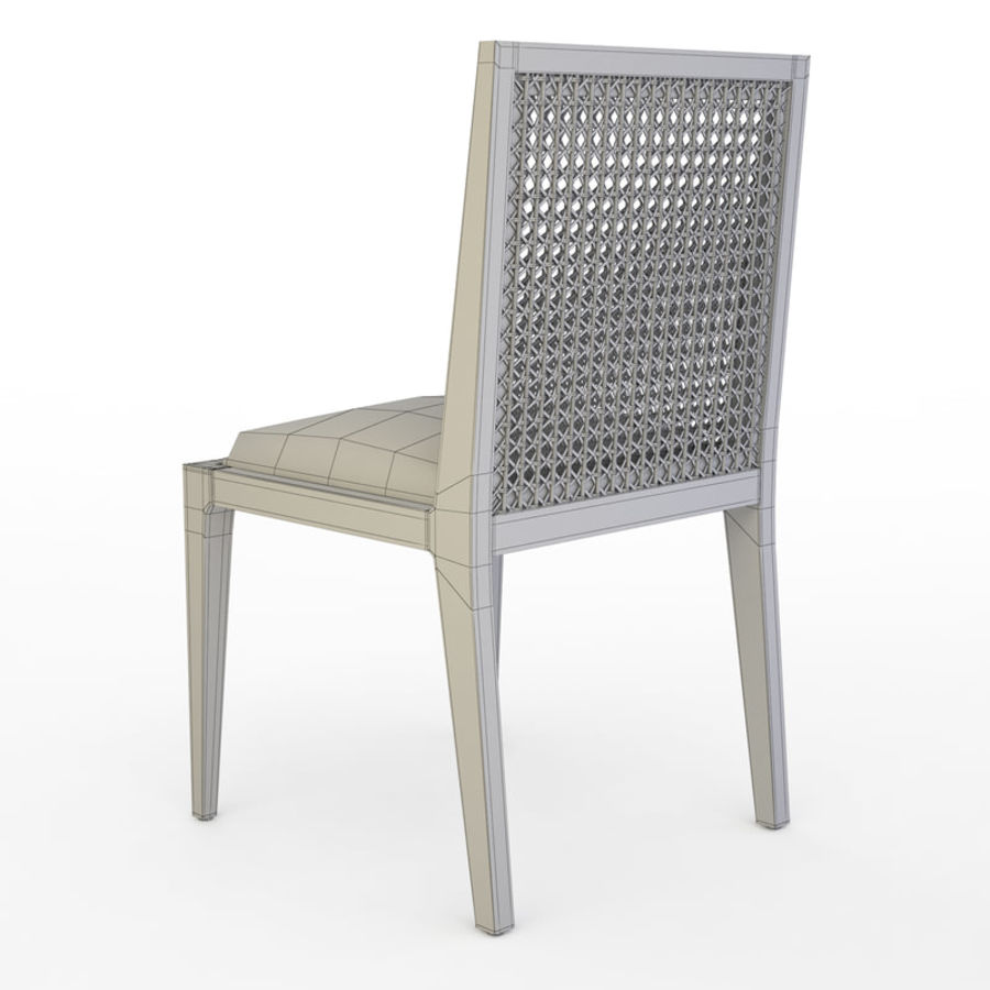 Messina Rattan Chair royalty-free 3d model - Preview no. 8