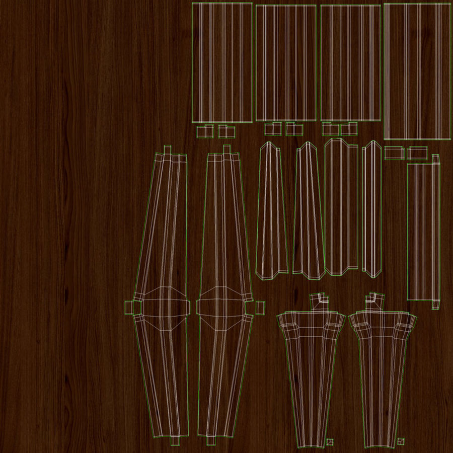 Messina Rattan Chair royalty-free 3d model - Preview no. 10