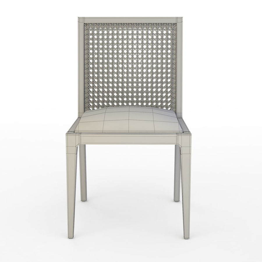 Messina Rattan Chair royalty-free 3d model - Preview no. 7