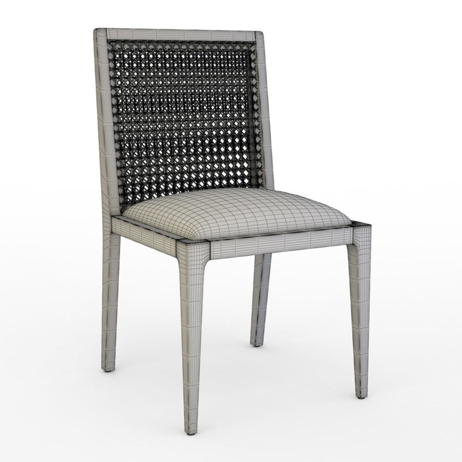 Messina Rattan Chair royalty-free 3d model - Preview no. 5