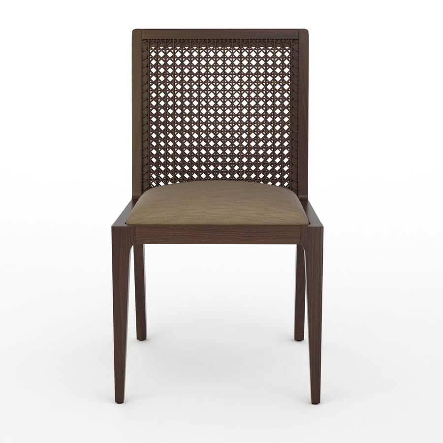 Messina Rattan Chair royalty-free 3d model - Preview no. 2