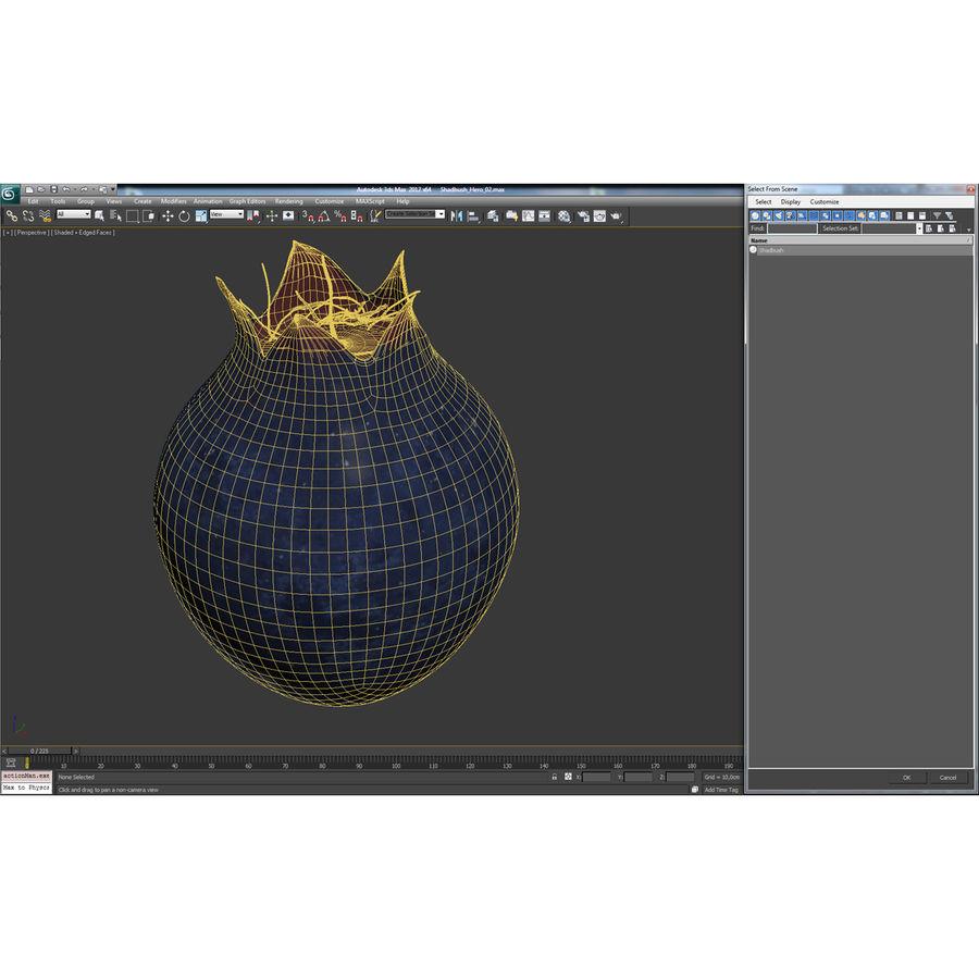 Shadbush Fruit royalty-free 3d model - Preview no. 15